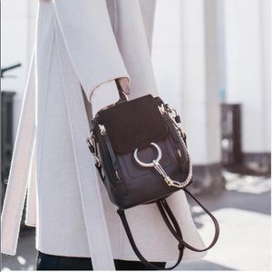 Chloe Bags - Chloe Faye Mini Leather Black Backpack